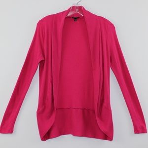 Express Hot Pink Open Front Cardigan